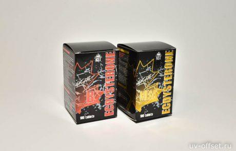 Картонные коробки с тиснением