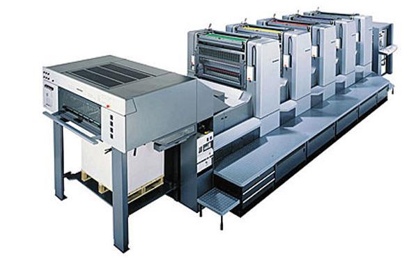Машина для офсетной печати по не впитывающим материалам